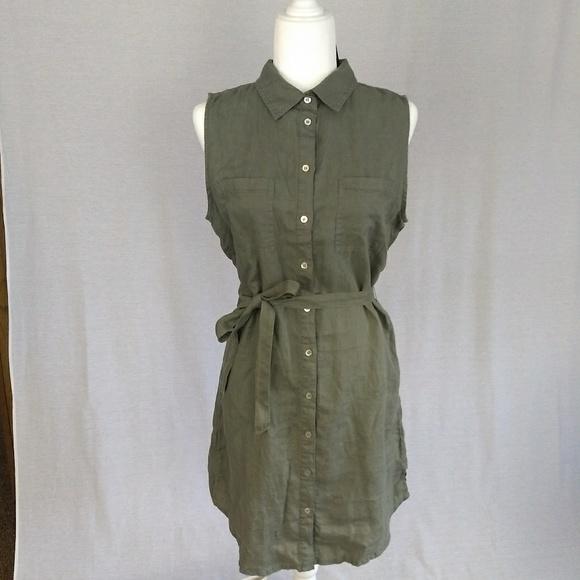 6a8b09d13ac NWT Adrienne Vittadini Green Linen Dress